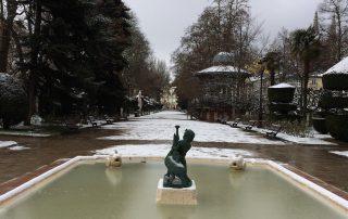 Paseo del Espolón en invierno, Burgos