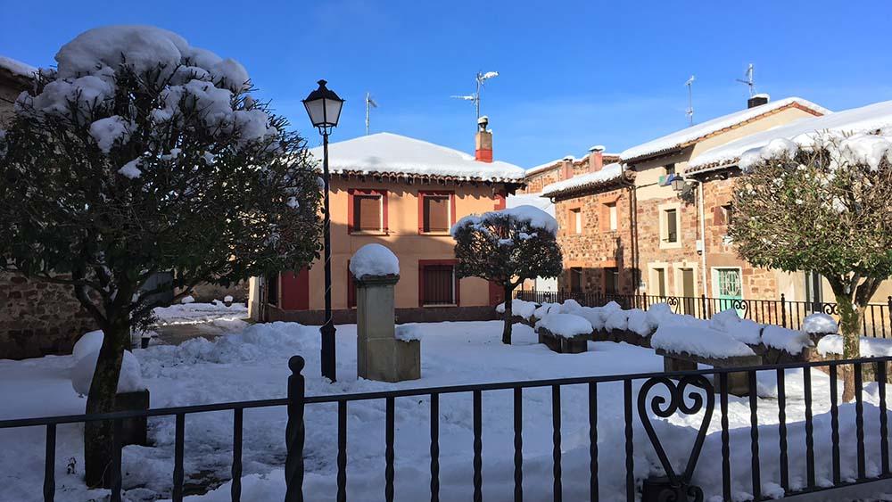 Villasur de Herreros con nieve
